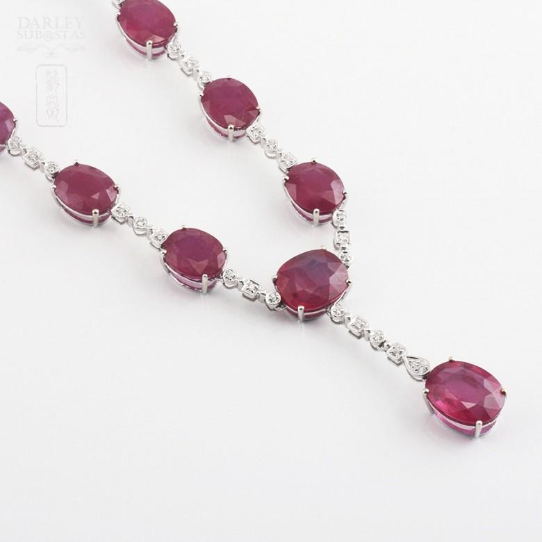 Fantastico Collar rubis y diamantes - 6
