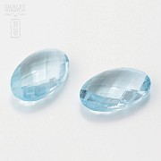 pair of blue topaz 14.00cts - 3