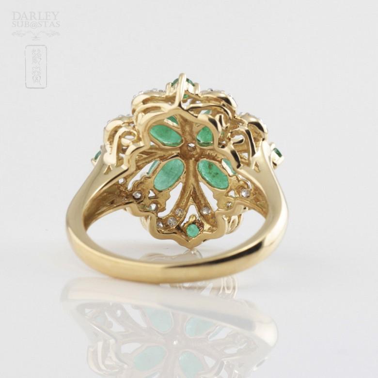 Fantástico anillo Esmeraldas y Diamantes - 2
