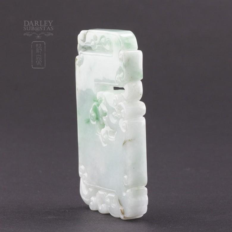 Preciosa Jadeíta natural colgante tallado - 1