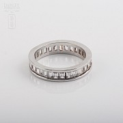 Ring with Zirconia in sterling silver, 925 - 3