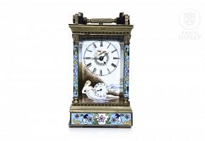 French travel clock, mid 20th century