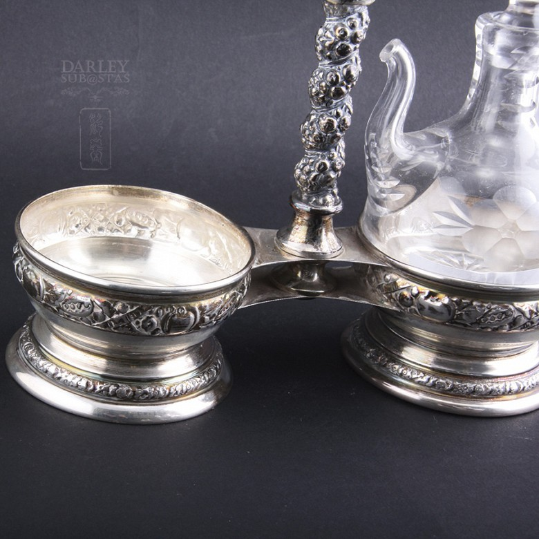 Silver Cruet with marks or punches. - 2
