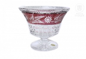 Bohemian glass fruit bowl, 20th century