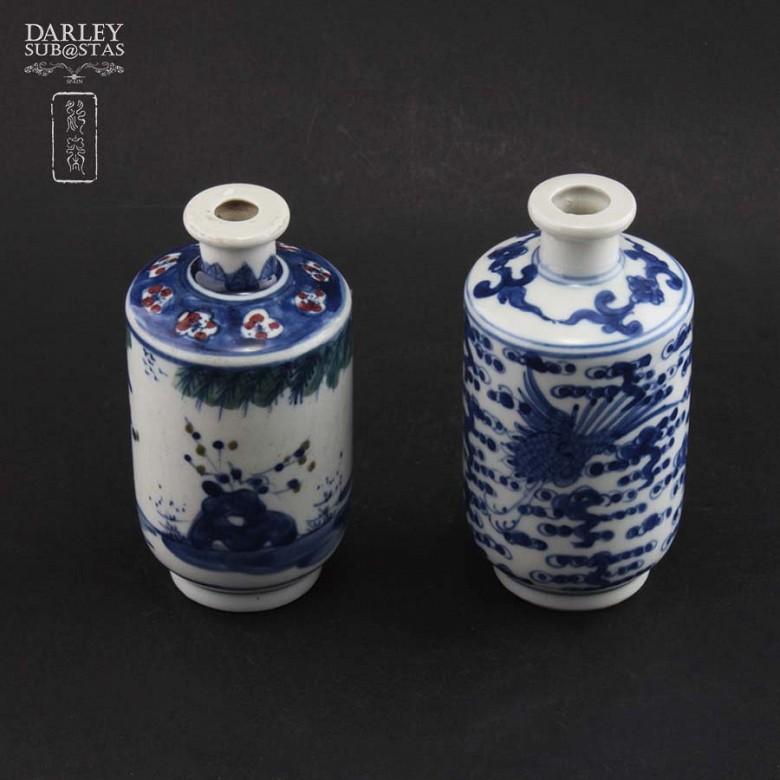Pareja de jarrones de porcelana china, S.XIX - 1