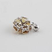 Colgante en oro amarillo de 14k con citrino 2.10cts y diamantes - 1