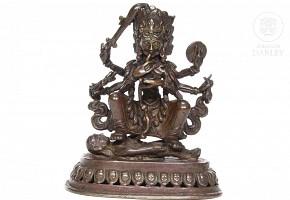 A Bronze figure of Kali, Nepal, 18th century