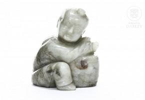 Carved jade figure,