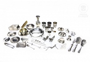 Lot of small silver objects, 20th century