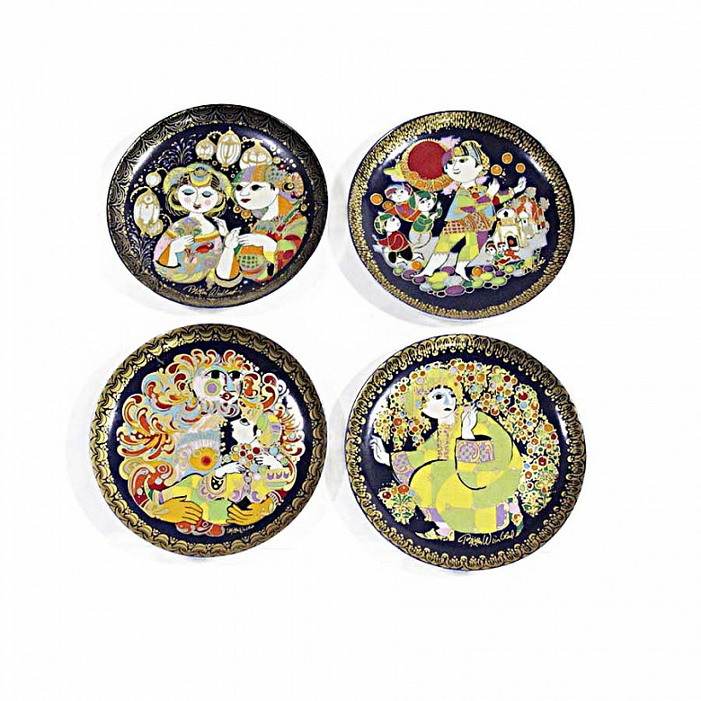 Four Rosenthal porcelain plates, 20th century