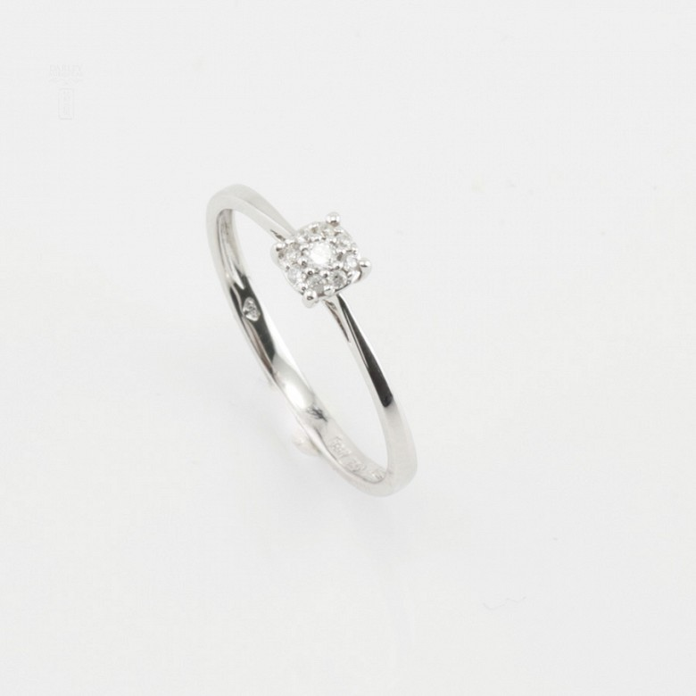 Ring in 18k gold and diamonds 0.11cts - 4