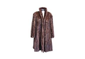 American mink fur coat