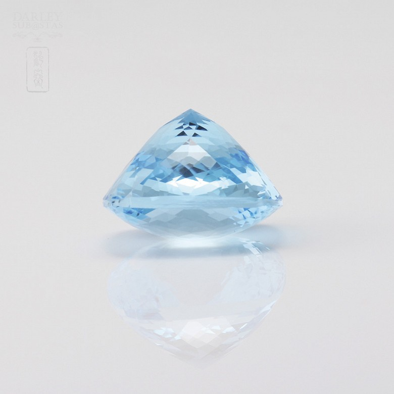 58,11克拉微深蓝色透亮蓝晶 - 1