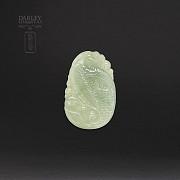 Natural jadeite pendant - 1