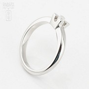 Solitaire in 18k white gold and diamond 0.12cts - 1