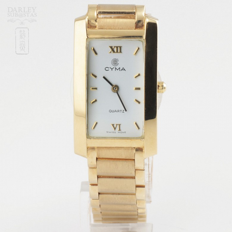 Gold Swiss Watch Cyma