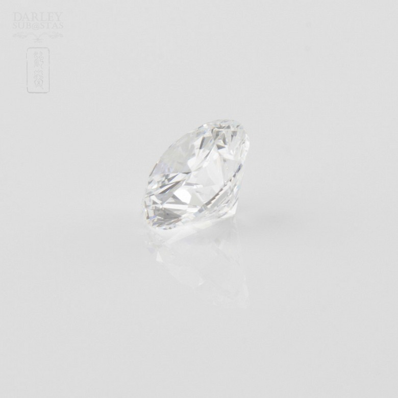Diamante natural, talla brillante,de peso  1.51 cts, - 2
