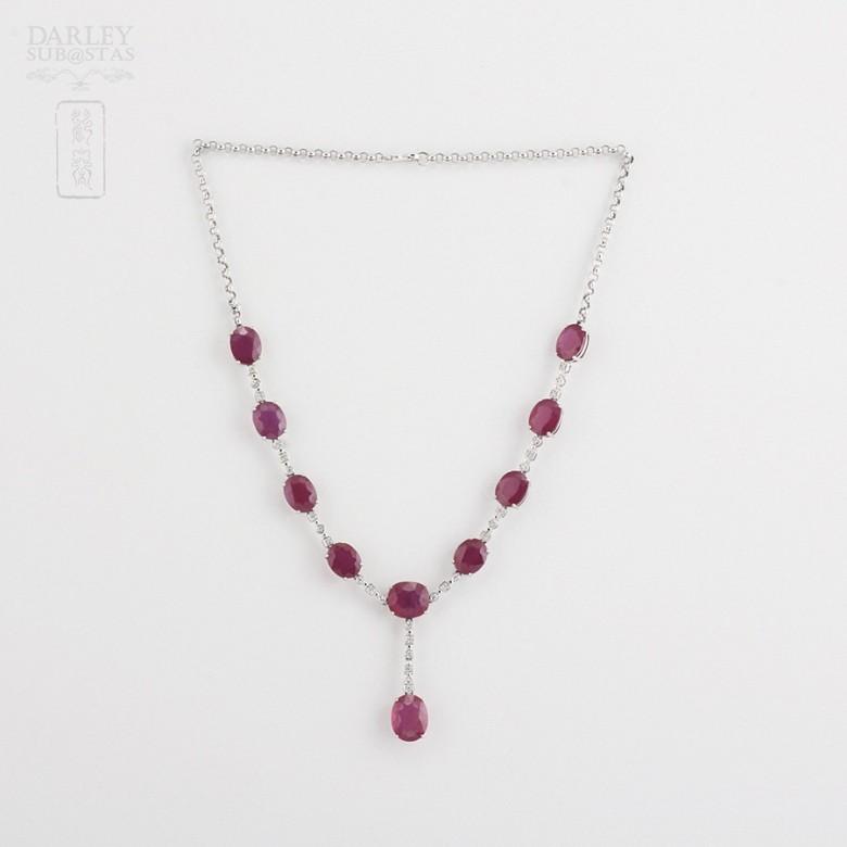 Fantastico Collar rubis y diamantes - 1