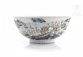 Porcelain enameled bowl, 19th c.