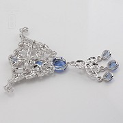 Faller blue dressing and rhodium plated - 8