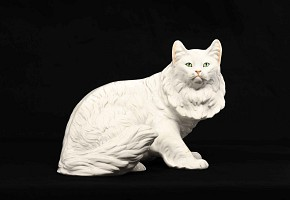 A Cat pottery figure of a cat, designed by Giovanni Ronzan (1906-1974)