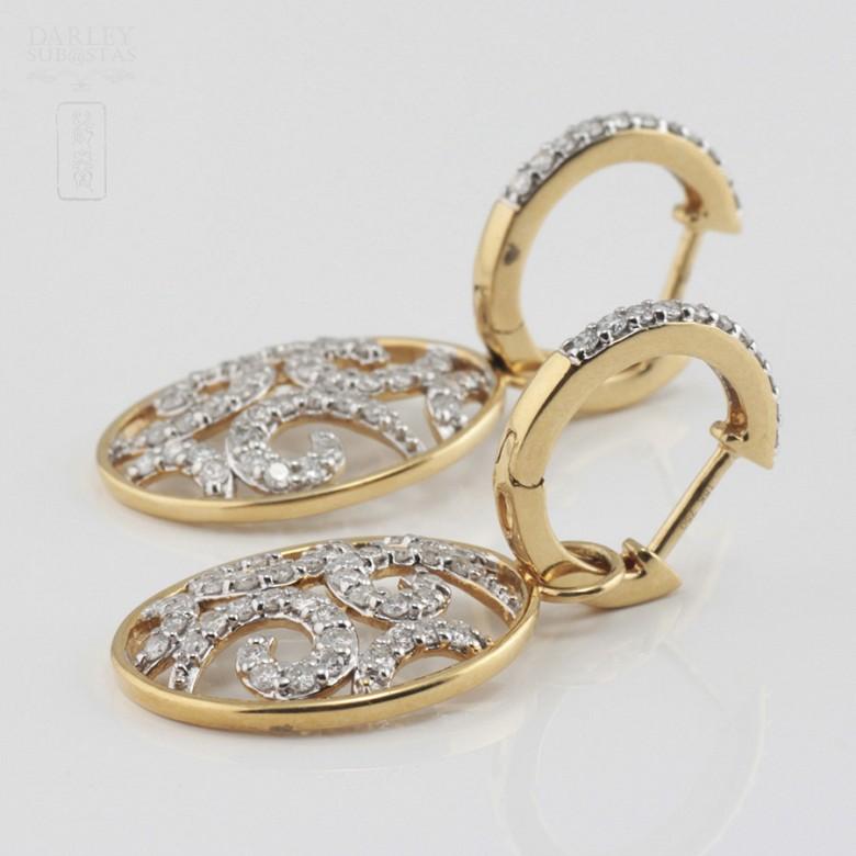 Preciosos pendientes con 1.01cts de diamantes - 2