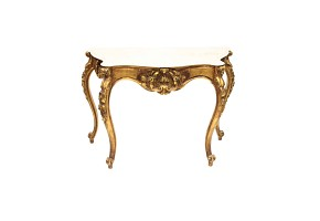 Carved and golden wood console, 20th century