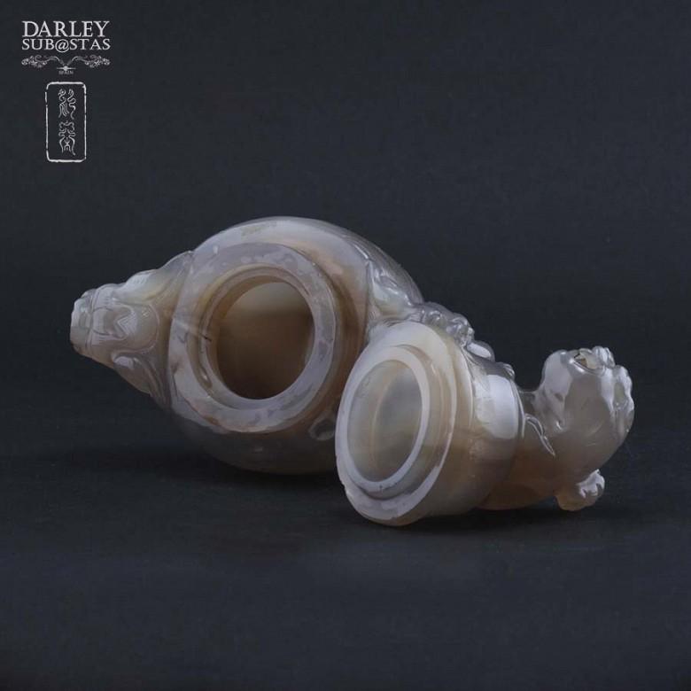 Chinese vase ornamental agata - 2