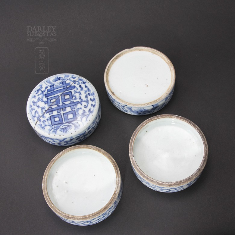 Lovely set of ceramic Antigua Qing Dynasty. - 3