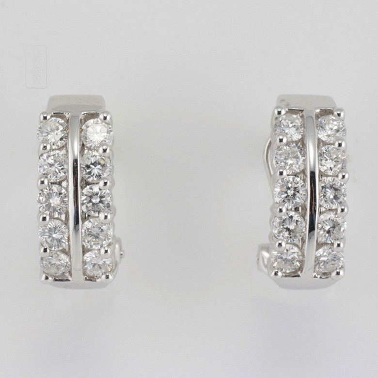Fantastic diamond earrings 1.82cts - 4