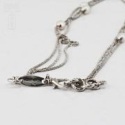Precioso collar en plata y perlas - 3