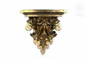 Gilded wood wall bracket, 20th century