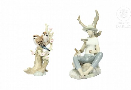 Lote de figuras de porcelana