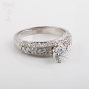 925银配锆石戒指 - 3