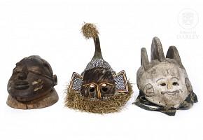Three African masks.