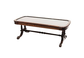 Low table with folding glass top, 20th century