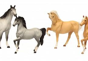 Set of four porcelain horses, Beswick England, 20th century