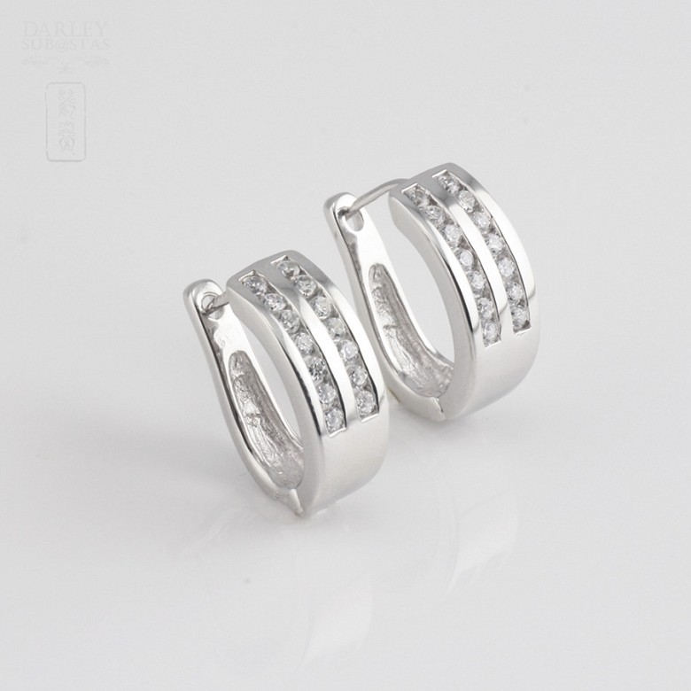 Zirconia earrings in sterling silver, 925m / m - 2