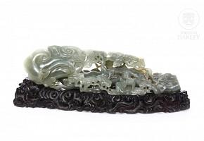 Carved jade sculpture, 20th c.