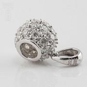 Colgante bola con 0.97cts diamantes - 4
