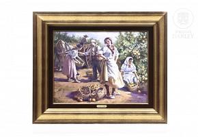 """Emilio Frejo Gutiérrez (1956) """"Labradoras en un campo de naranjas"""""""