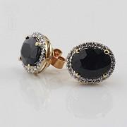 Nice earrings sapphires and diamonds