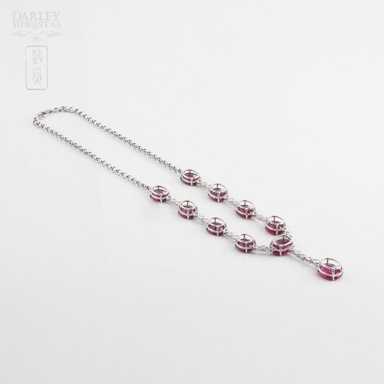 Fantastico Collar rubis y diamantes - 3