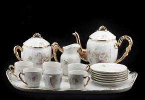 Porcelain tea set, pps.s.XX.