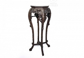 Chinese carved wooden pedestal.