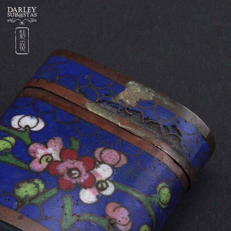 Chinese Cloisonne precious little boxes - 4