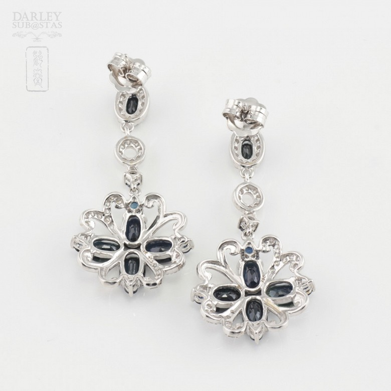 Pendientes de zafiros y diamantes