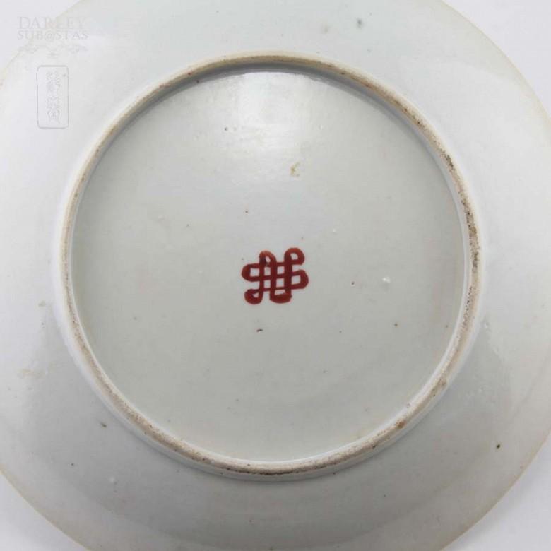 十九世纪彩绘瓷盆 - 4