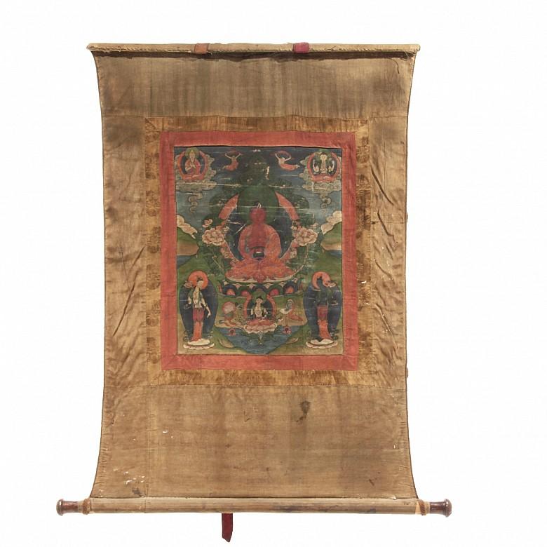 Silk Thangka, 19th century