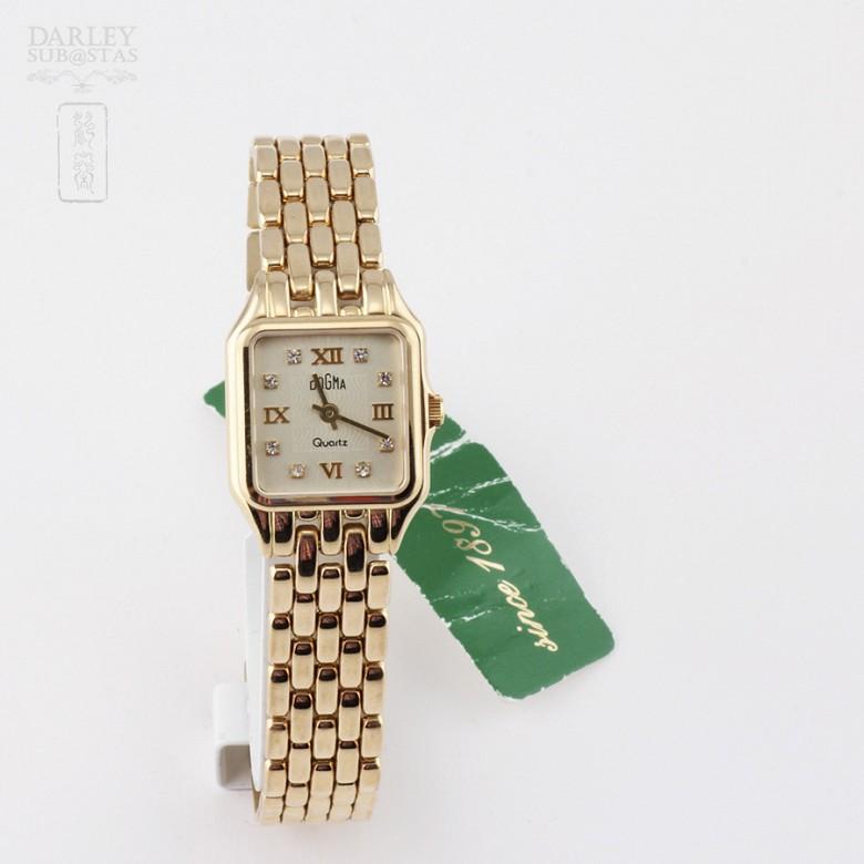 18K 黄金瑞士Dogma 镶钻石女士腕表